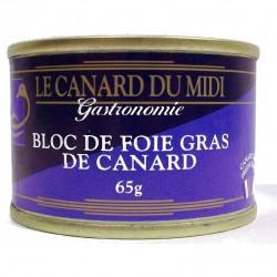 bloc de foie gras de canard pas cher 65gr