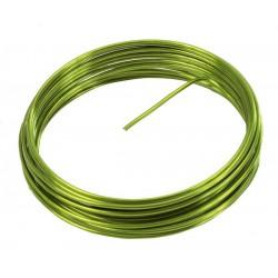 Fil métallique vert-rouleau de 5m