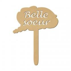 Panneau Photobooth bois médium - Belle-soeur (27 cm x 21 cm)