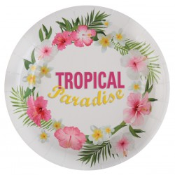 10 assiettes carton Tropical Paradise