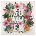 20 serviettes en papier tropical paradise