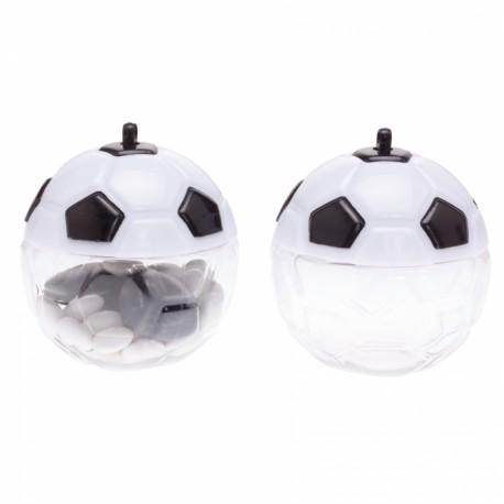 Contenant dragées ballon foot en plexi