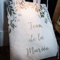 Tote bag en lin | Team de la mariée