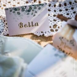 Lot de 40 marque-places eucalyptus | mariage botanique