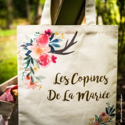 "Tote bag ""Les copines de la mariée"" 