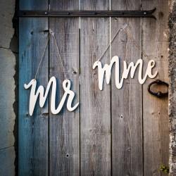 Dos de chaise en bois Mr et Mme | bronze et laurier