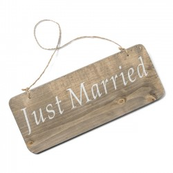 "Pancarte en bois ""Just Married"" 