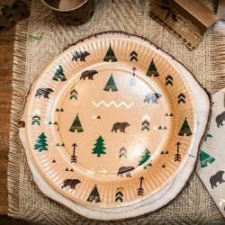 8 assiettes | Indian forest