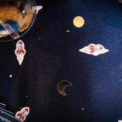 100 confettis | astronaute et fusée