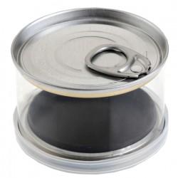 Lot de 4 boites de conserve transparente pour dragées
